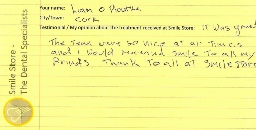Liam O'Rourke From Cork Reviews Smile Store