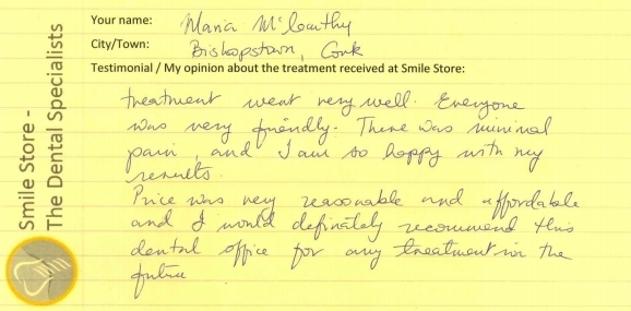 Maria From Bishopstown Reviews Smile Store