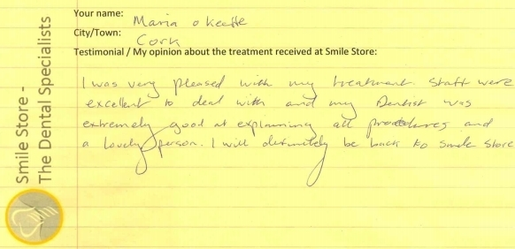 Maria O'Keeffe Reviews Smile Store
