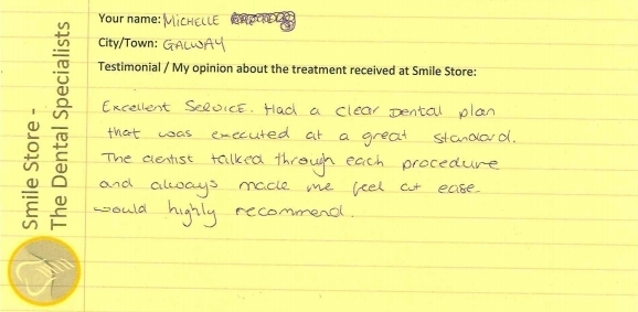 Michelle From Galway Reviews Smile Store