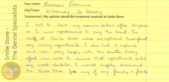 Noreen Browne Reviews Smile Store