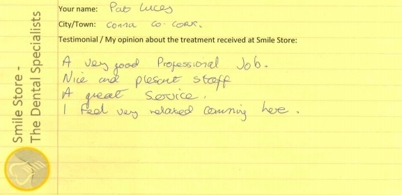 Pat Lucey Reviews Smile Store