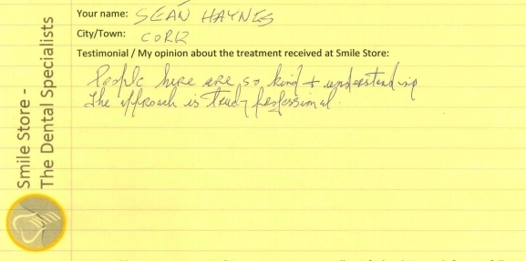 Sean Haynes Reviews Smile Store