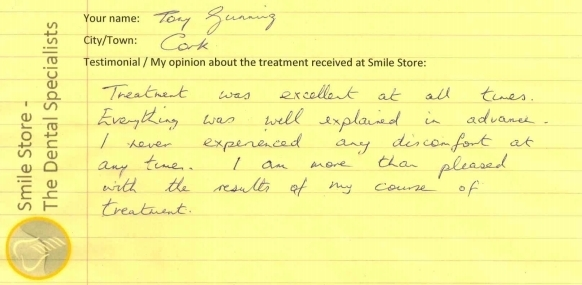 Tony Gunning Reviews Smile Store